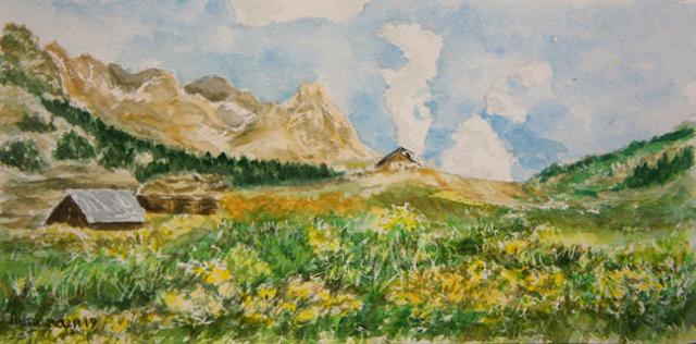 Armana Alexandra aquarelle paysage