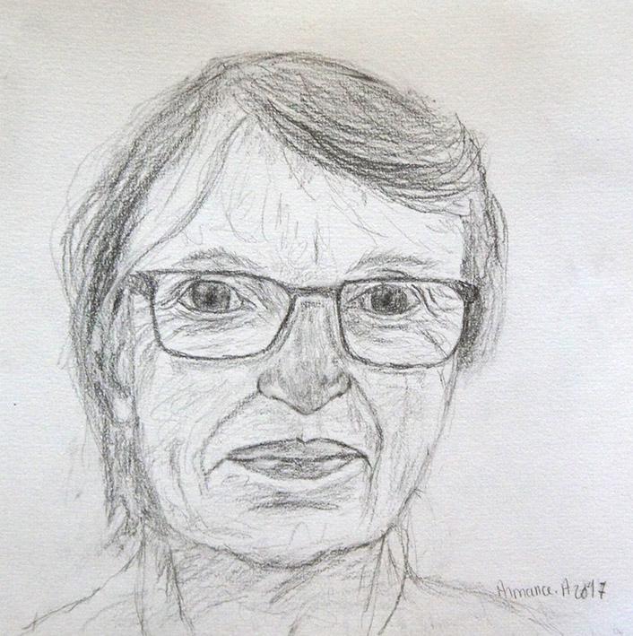 Portrait crayon armana alexandra