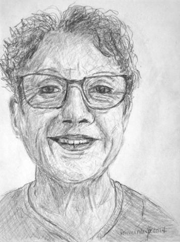Portrait crayon noir
