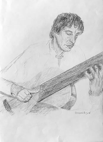 Portrait crayon noir  armana alexandra