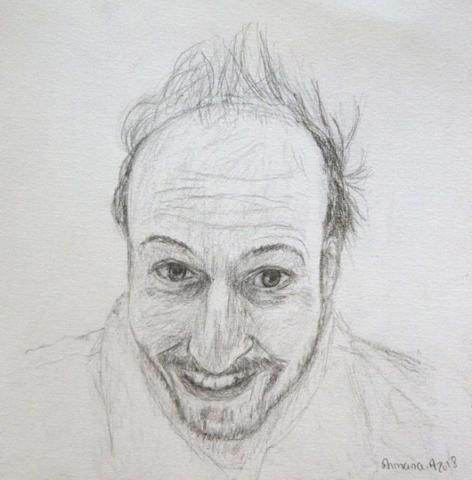 Portrait crayon noir d'armana alexandra